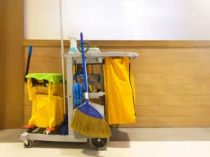 commercial cleaning trolley