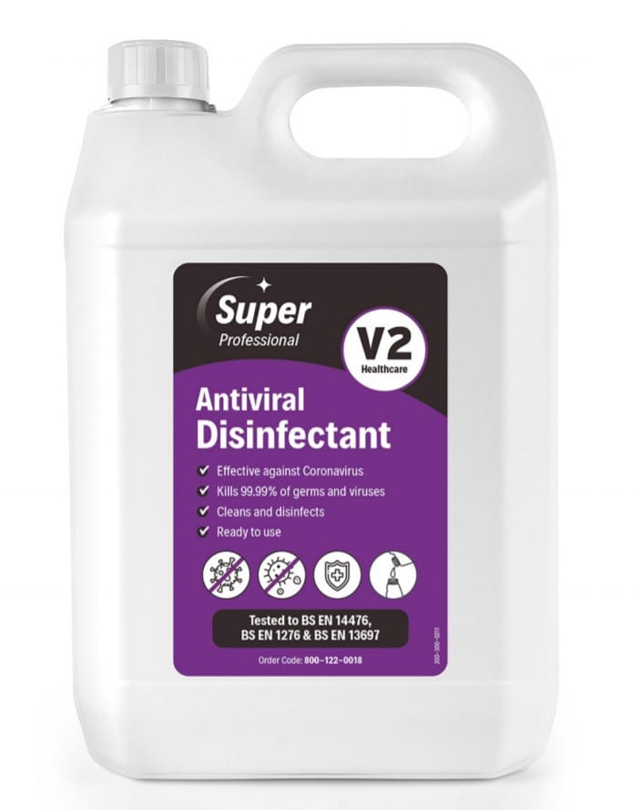 Image showing the larger sized container of the Antiviral disinfectant.