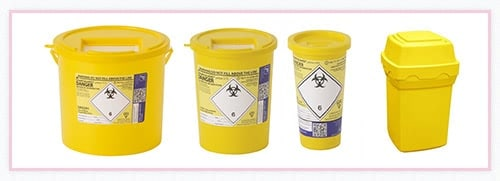 Image showing the types of Medical waste bin rentals on offer.