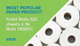 View product: Toilet rolls 320 sheets x 36 rolls