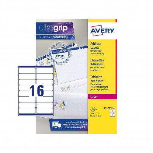 Avery FSC LserLbl 99.1x33.9Wht L7162-100