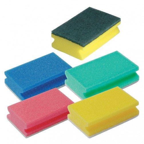 Colour Coded Sponges Non Abrasive x 60