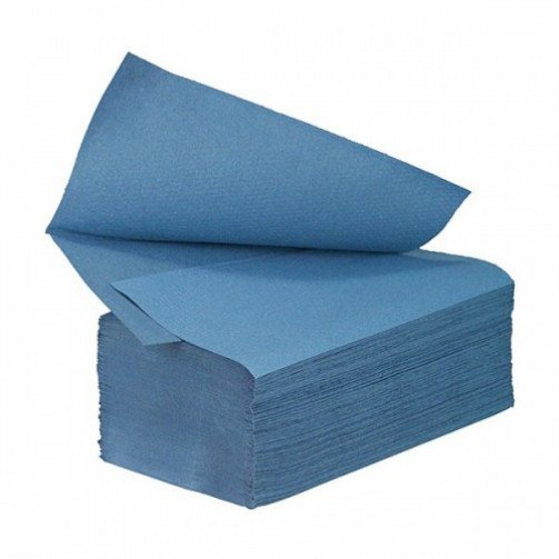 Interfold Hand Towels 1ply Blue x 4000 HT3600B x 48 Cases
