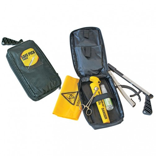 Sharps Kit Pouch with Folding Litter Picker