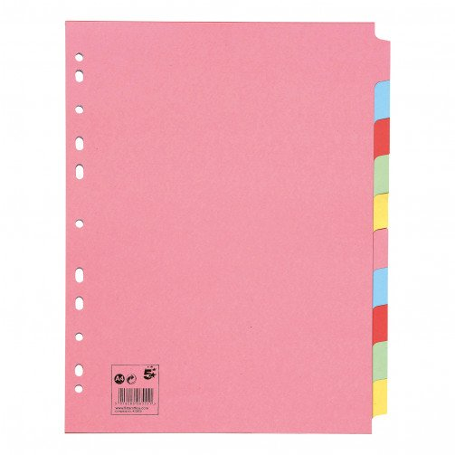 5 Star ExtraWide 10-Prt Subject Dividers