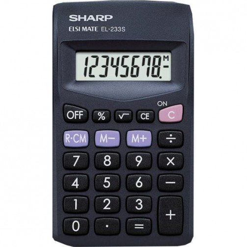 Sharp EL233SBBK Pocket Calculator