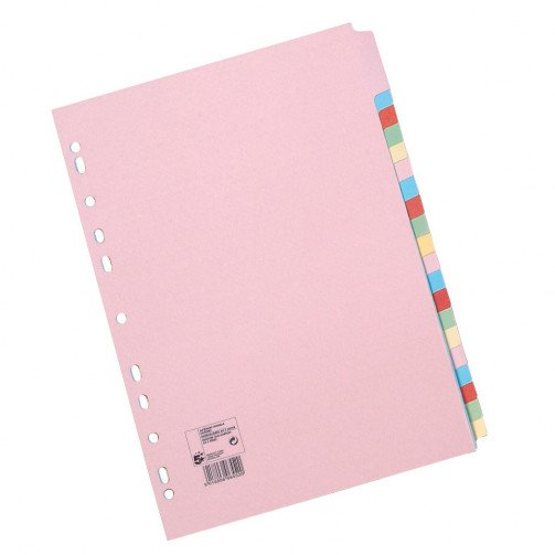 5 Star A4 20-Part Subject Dividers