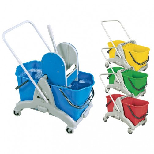 Bucket Double Mopping Trolley Grey/Blue CO1250BL