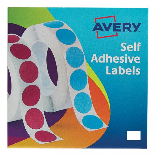 Avery Labels on Roll 12x18mmWht 24-415