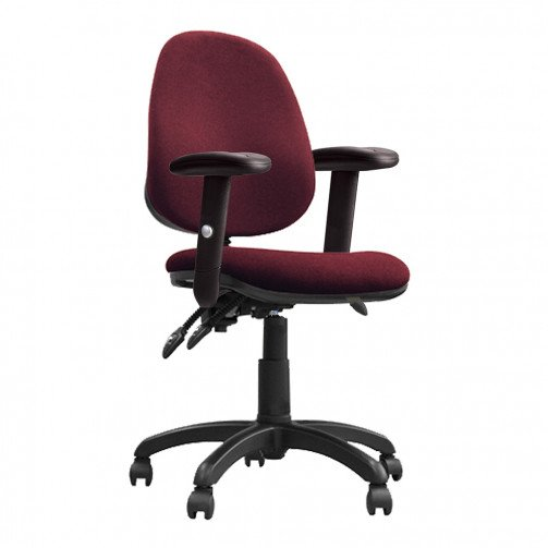 Nile 300 ADT Red - High Back Operator Chair With Height Adjustable Arms  Red