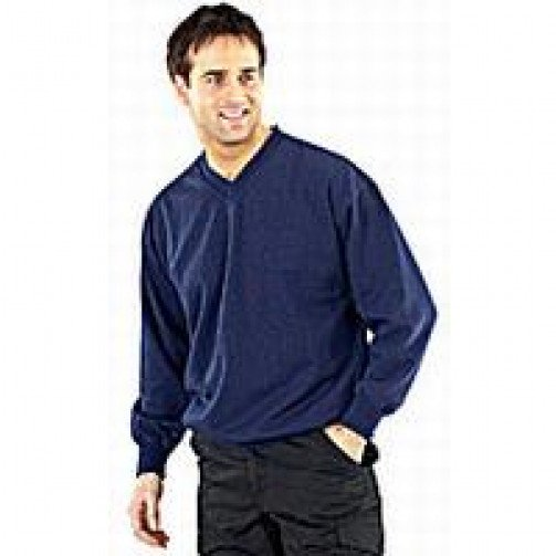 V-Neck Sweater with Fleece Inner