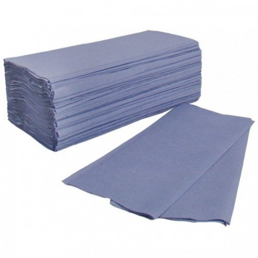Interfold Hand Towels 1ply Blue x 4000