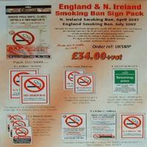 No Smoking Ban Sign Pack UKSMP