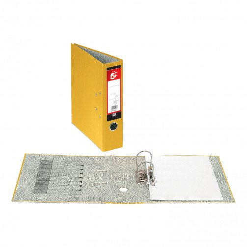 5 Star Office Lever Arch File A4 Yellow