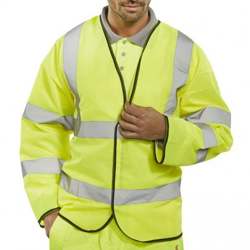 Long Sleeved Jerkin Hi-Visibility