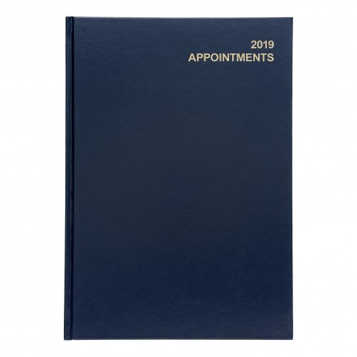 5 Star 2019 A4 Day/Pge Appoint Diary Blu