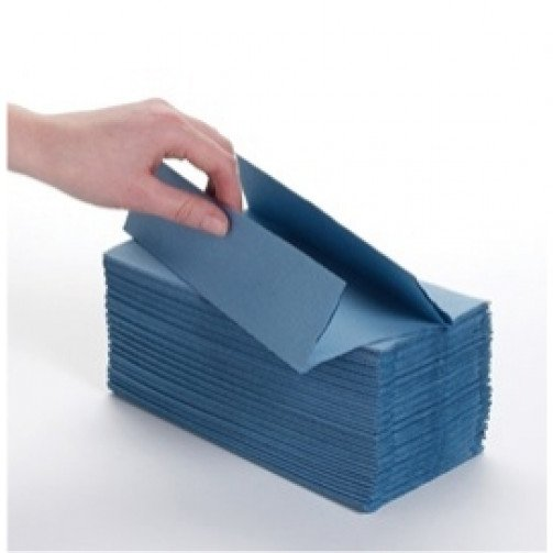 C-Fold Hand Towels Blue 1ply 2520 PD102