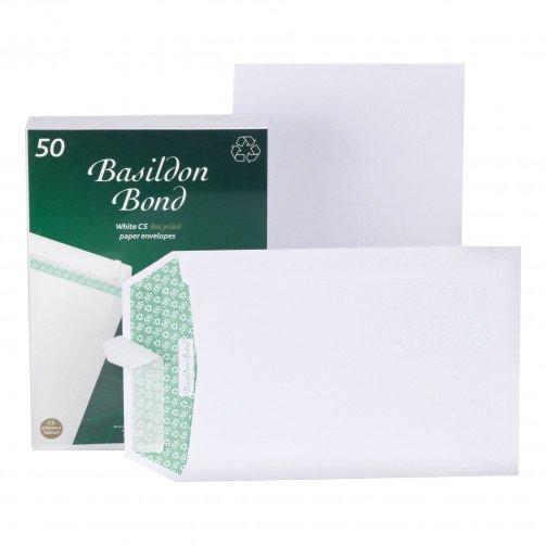 Basildon Bond FSC EnvC5 120gP&S Wht Pk50