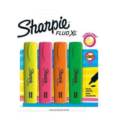 Sharpie Fluo XL Ast Blister 4 1825662