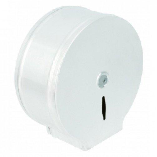 Dispenser Jumbo Toilet Roll-White Steel