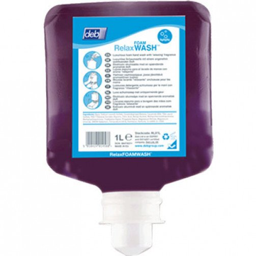 Soap - Deb Relax Foam Hand Wash - 6 x 1Ltr