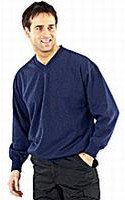 V-Neck Sweater with Fleece Inner