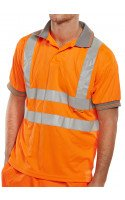 Hi-Visibility Polo Shirt with Short  Sleeves