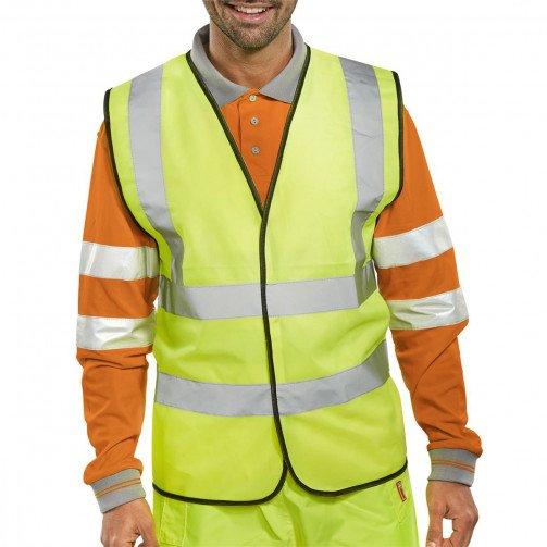 )Bseen Hi Vis Waistcoat Yellow XL