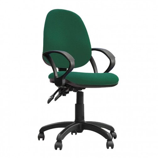 Nile 200 A Green - High Back Operator Chair With Arms  Green