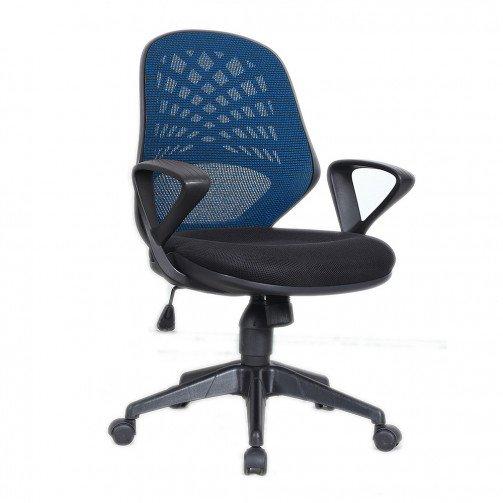 Lena Blue - Mesh Back Operator Chair Blue