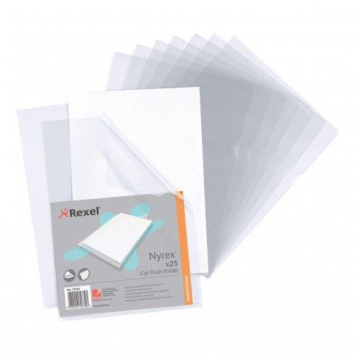 Rexel Nyrex C/F Fldr A4 Clear 12153 Pk25