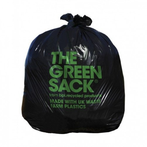 The Green Sack Heavy Duty Black Bag 18x29x38 inches