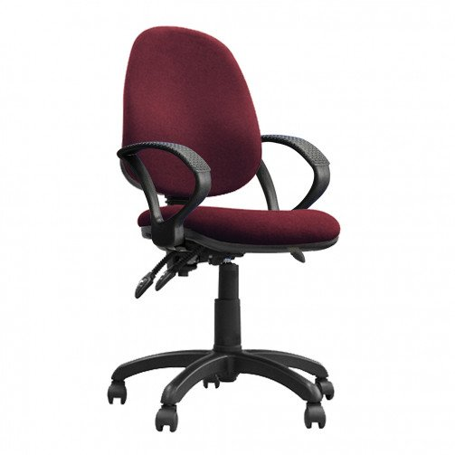 Nile 300 A Red - High Back Synchronised Operator Chair With Arms  Red