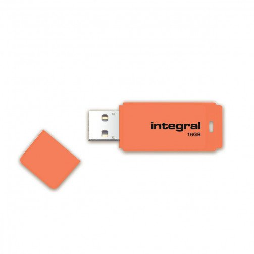 Integral Neon USB Drive 2.0 16GB Orange
