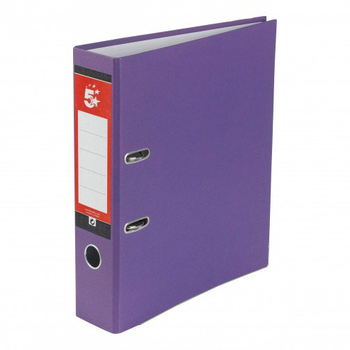 5 Star Office Lever Arch A4 Purple