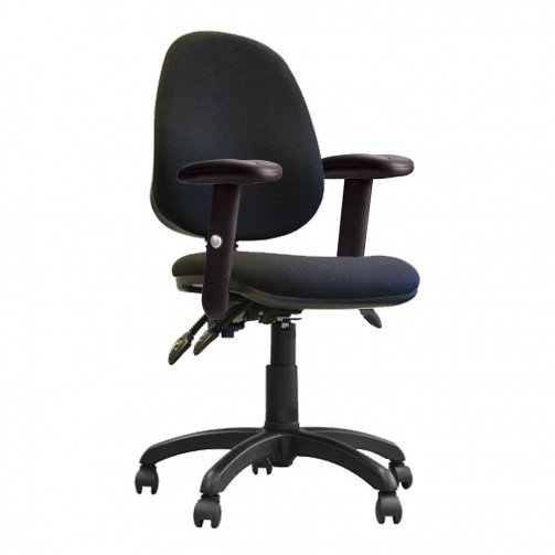 Nile 200 ADT Black - High Back Operator Chair With Height Adjustable Arms  Black