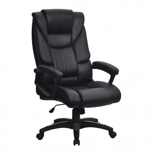 Limpopo Black - High Back Leather Effect Executive Chair Black
