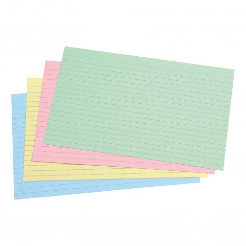 5 Star Rec Cards 203x127 Ass Pk100