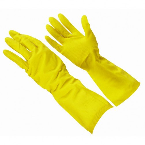 Standard Yellow Household Washing Up Gloves.