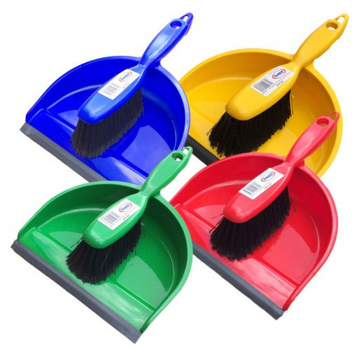 Dustpan and Brush Stiff Bristle