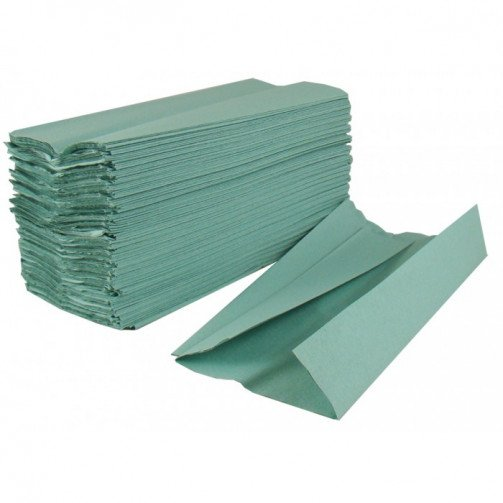 Hand Towels Interfold 1ply Green x 3600