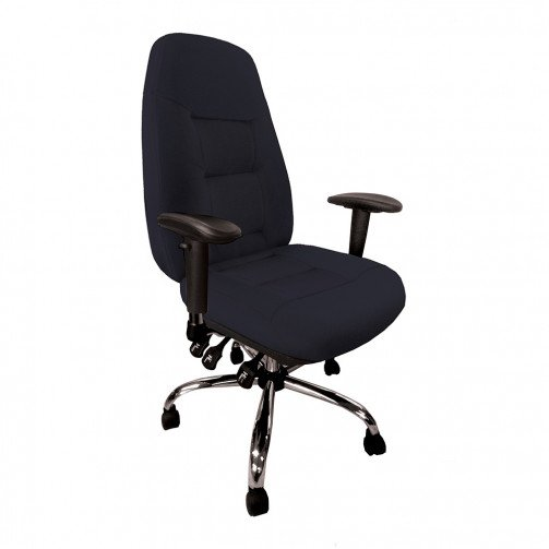 Mississippi Black - 24 Hour Operator Chair Fabric Black