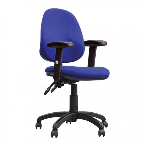 Nile 200 ADT Blue - High Back Operator Chair With Height Adjustable Arms  Blue