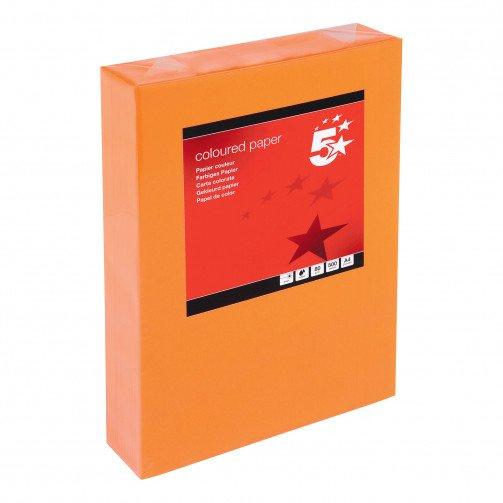 5 Star Tint A4 80gsm Deep Orange Pk500