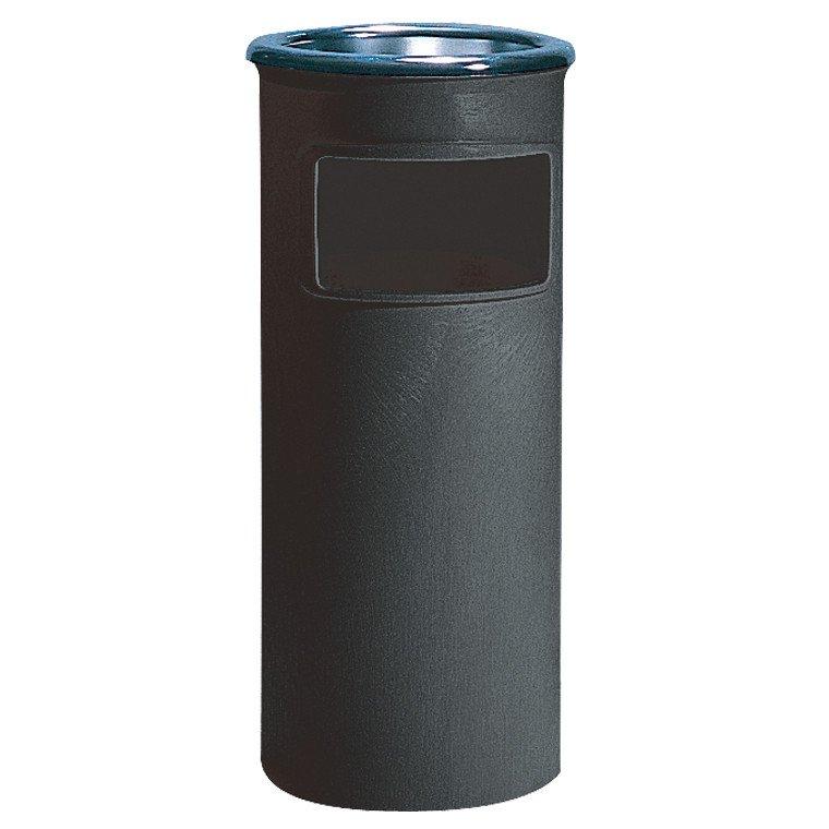 Litter Bin Trash Can Black Janitorial Direct Ltd