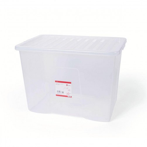 5 Star Storage Box 80L Clear