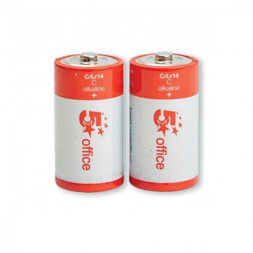 5 Star Batteries C PK2