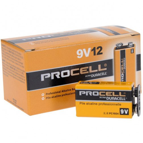 Batteries Duracell Industrial ' 9v ' x pack 10