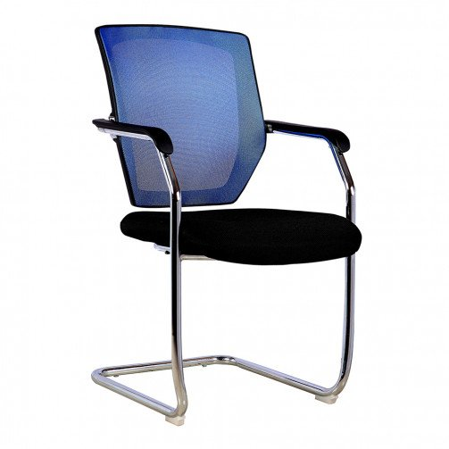 Columbia Blue - Medium Back Mesh Cantilever Chair  Blue
