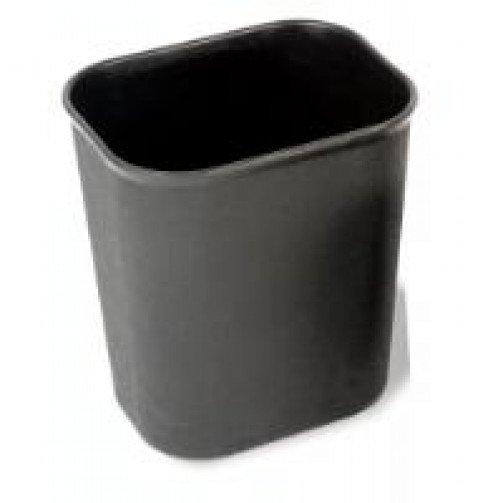 Rectangular Waste Basket 13.2 Litre Black